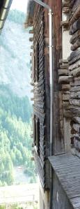 Maison Saint-Verannaise - Partie supérieure faite de rondins empilés