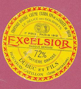"""Etiquette Excelsior de chez """"Dubuc & fils"""""""