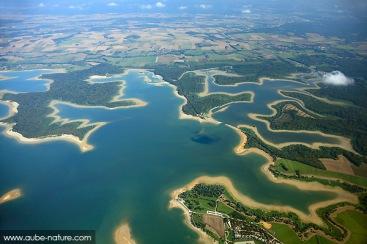 Lac du Der, vue aérienne